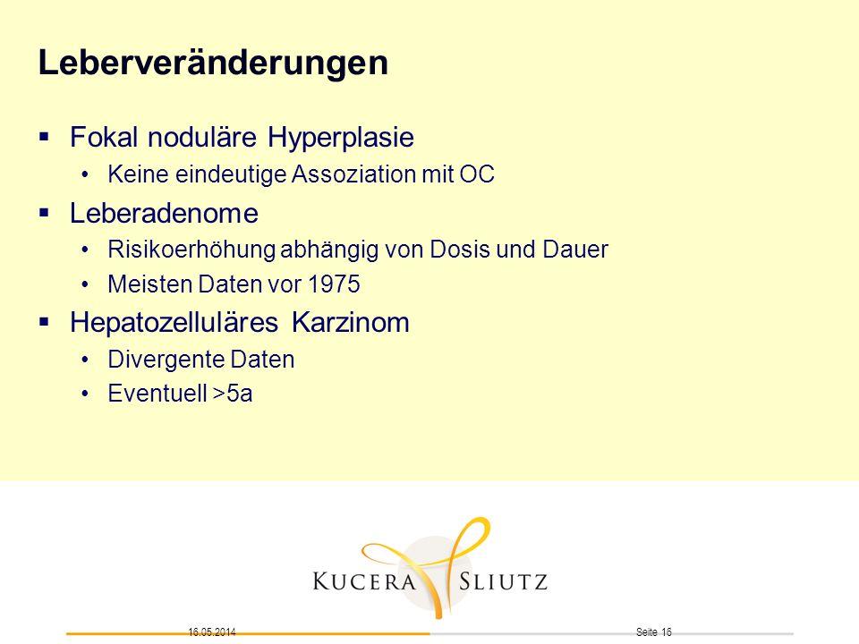 Leberveränderungen Fokal noduläre Hyperplasie Leberadenome