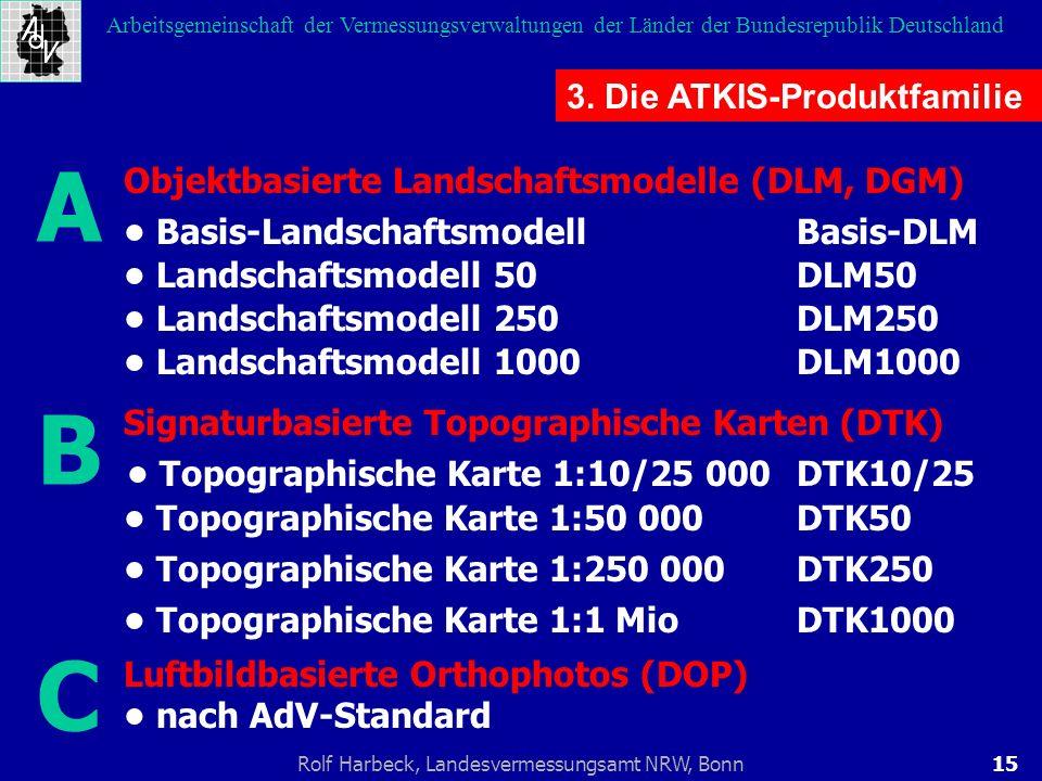 A B C 3. Die ATKIS-Produktfamilie