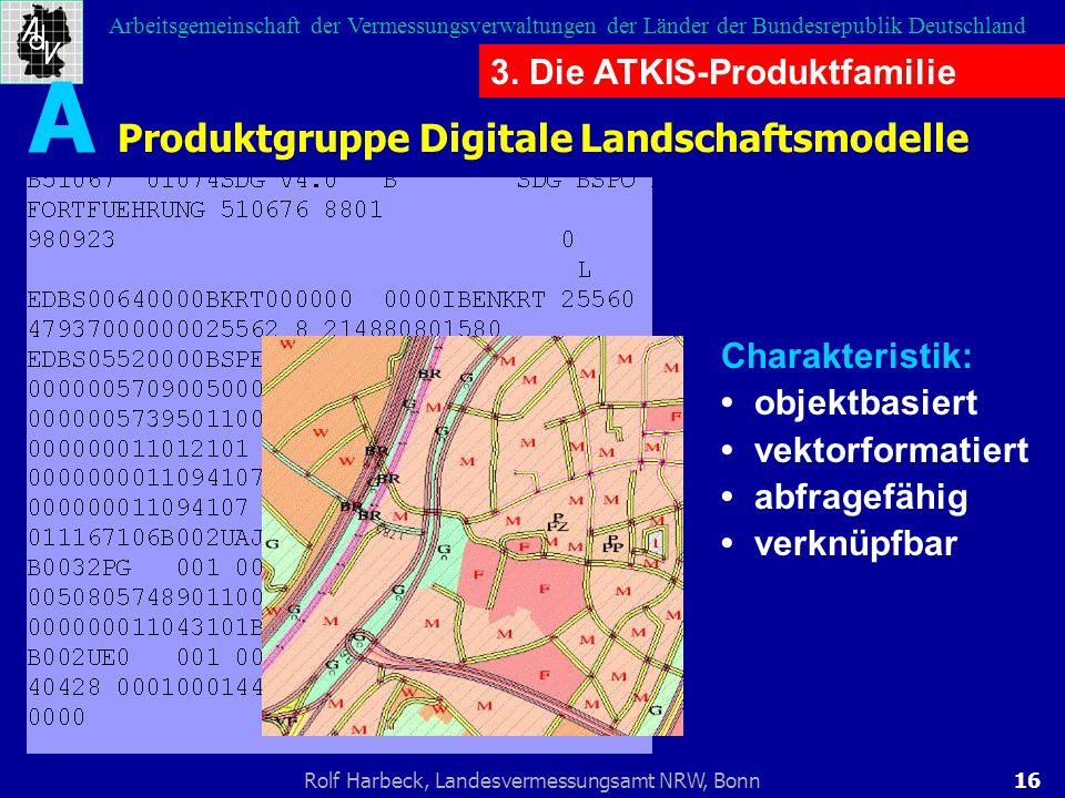A Produktgruppe Digitale Landschaftsmodelle
