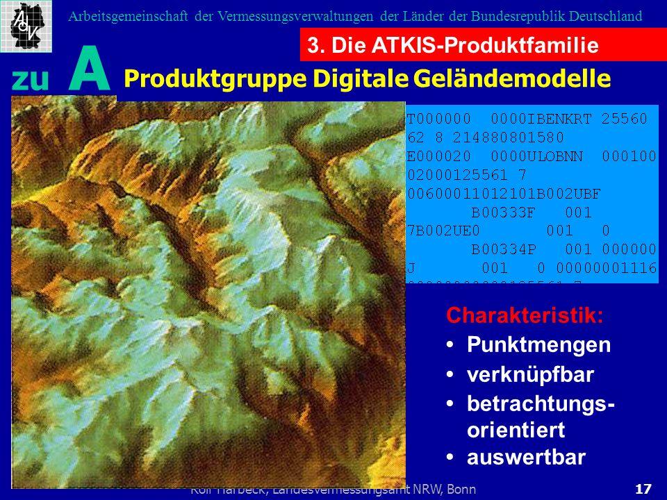 zu A Produktgruppe Digitale Geländemodelle 3. Die ATKIS-Produktfamilie