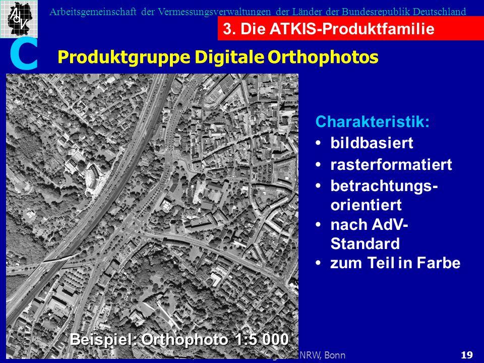 C Produktgruppe Digitale Orthophotos 3. Die ATKIS-Produktfamilie
