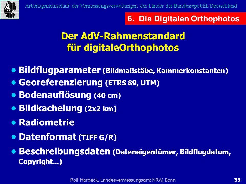 Der AdV-Rahmenstandard für digitaleOrthophotos