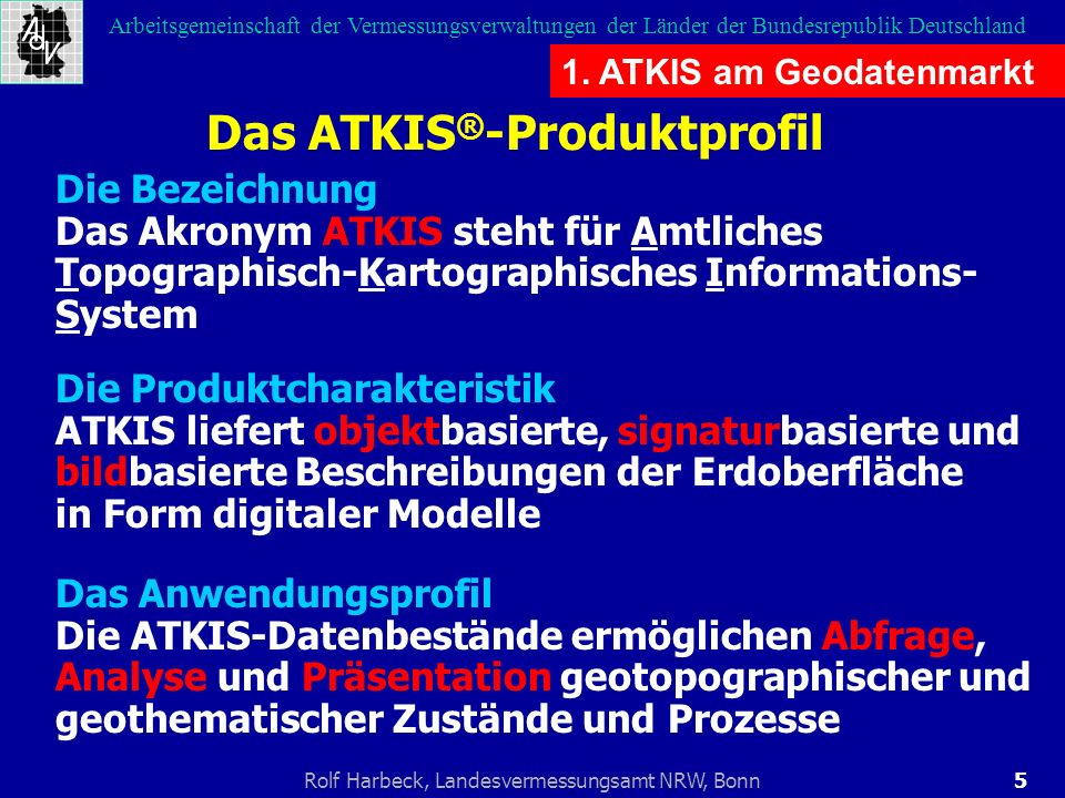 Das ATKIS®-Produktprofil
