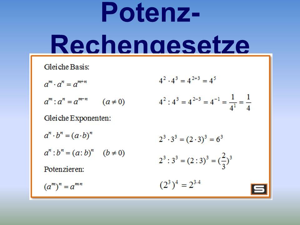 Potenz-Rechengesetze