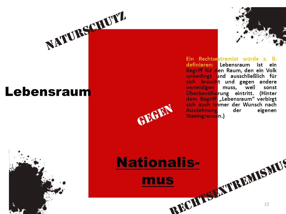 Nationalis-mus Lebensraum