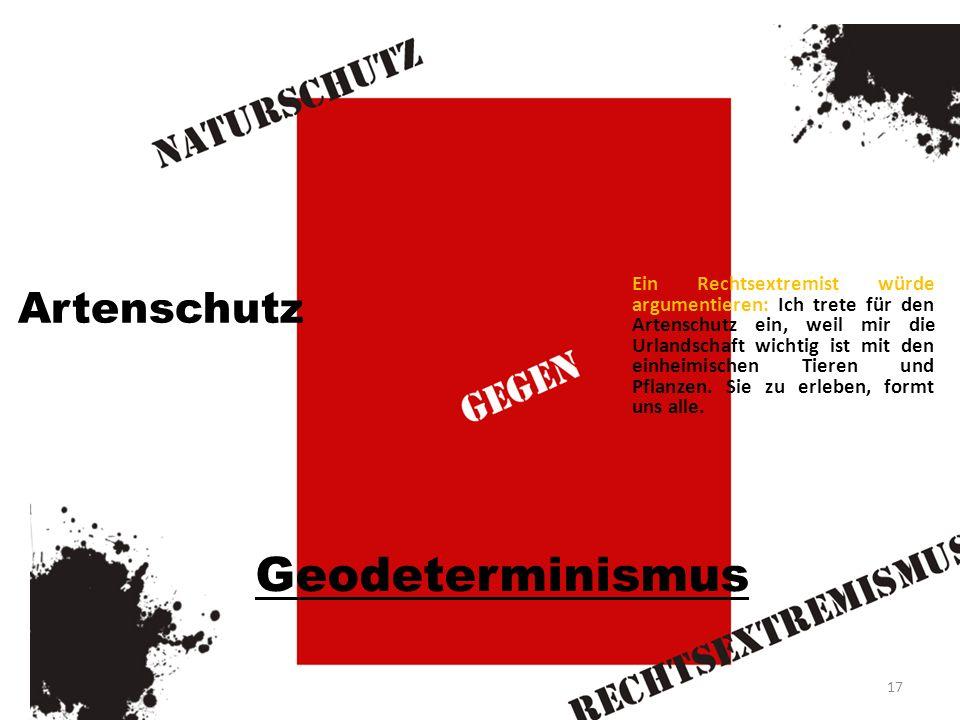 Geodeterminismus Artenschutz