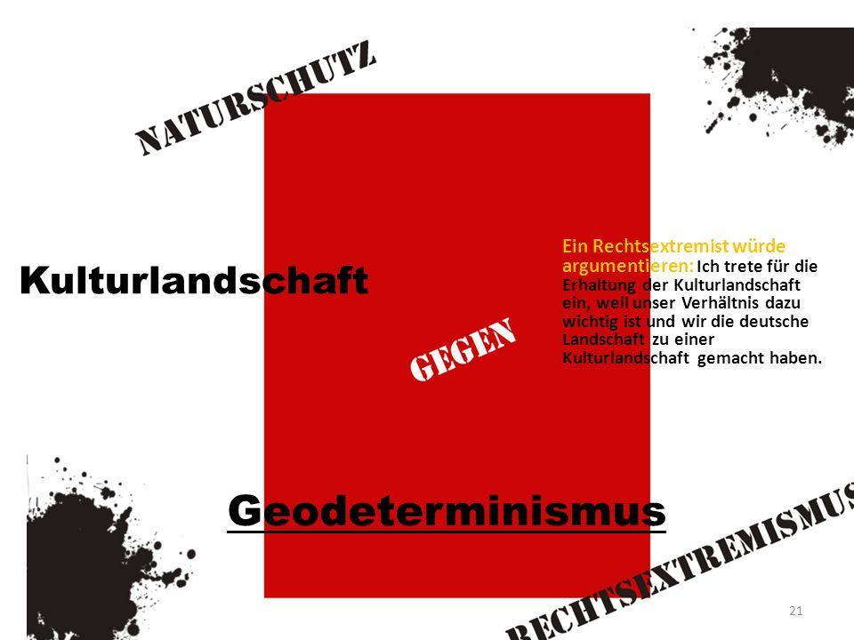 Geodeterminismus Kulturlandschaft