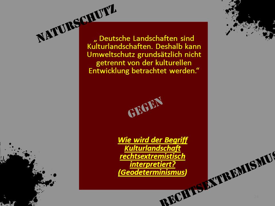 """"""" Deutsche Landschaften sind Kulturlandschaften"""