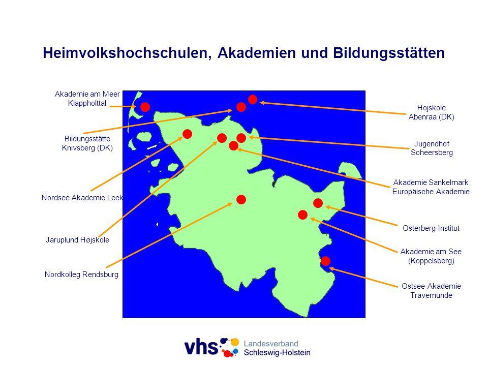 Heimvolkshochschulen, Akademien und Bildungsstätten