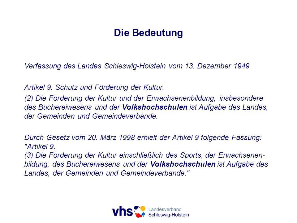 Die Bedeutung Verfassung des Landes Schleswig-Holstein vom 13. Dezember 1949. Artikel 9. Schutz und Förderung der Kultur.