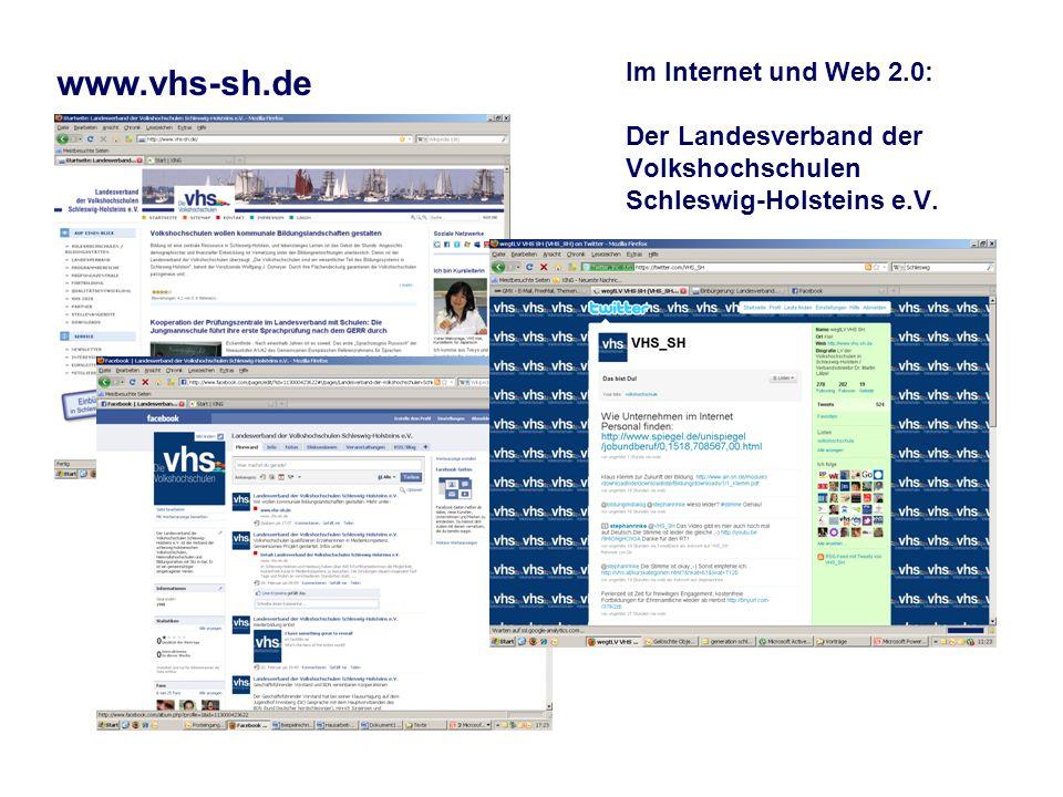 Im Internet und Web 2.0: Der Landesverband der Volkshochschulen Schleswig-Holsteins e.V.