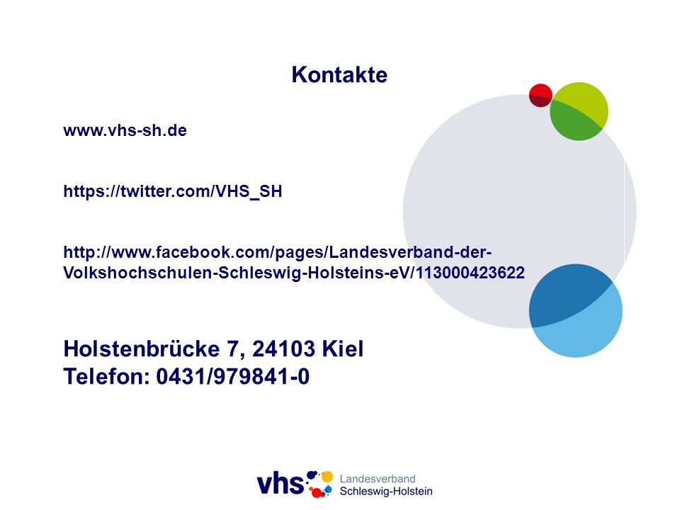 Kontakte Holstenbrücke 7, 24103 Kiel Telefon: 0431/979841-0