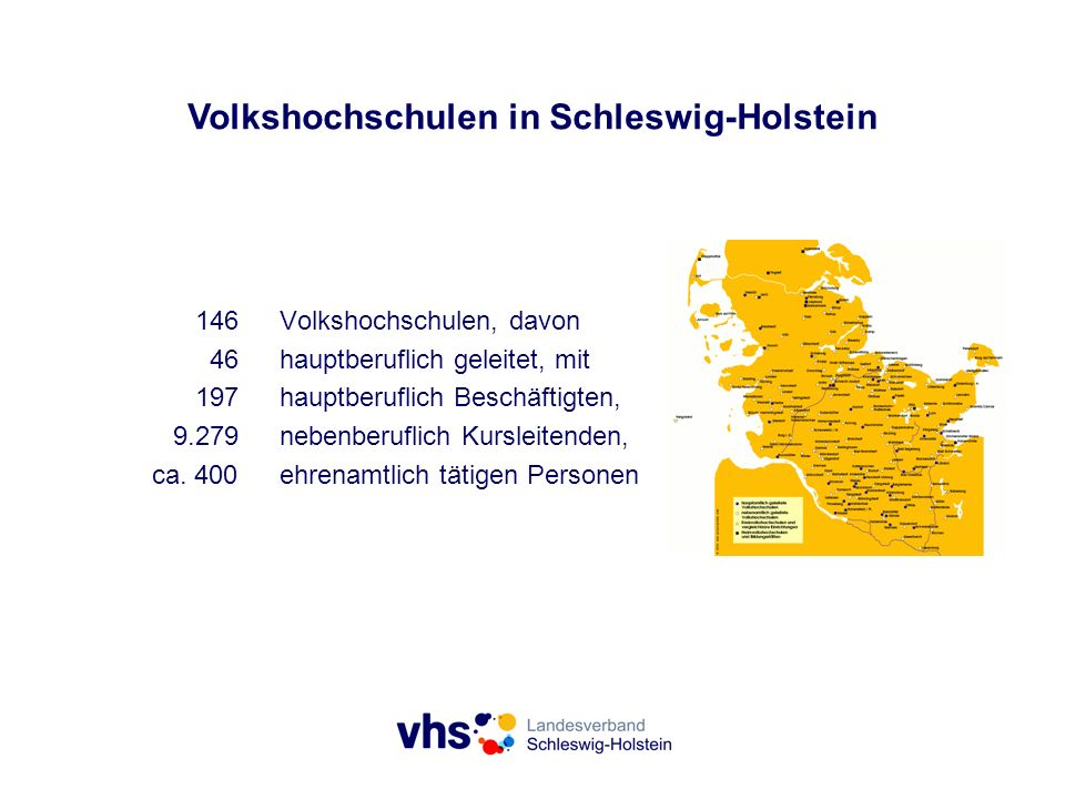 Volkshochschulen in Schleswig-Holstein