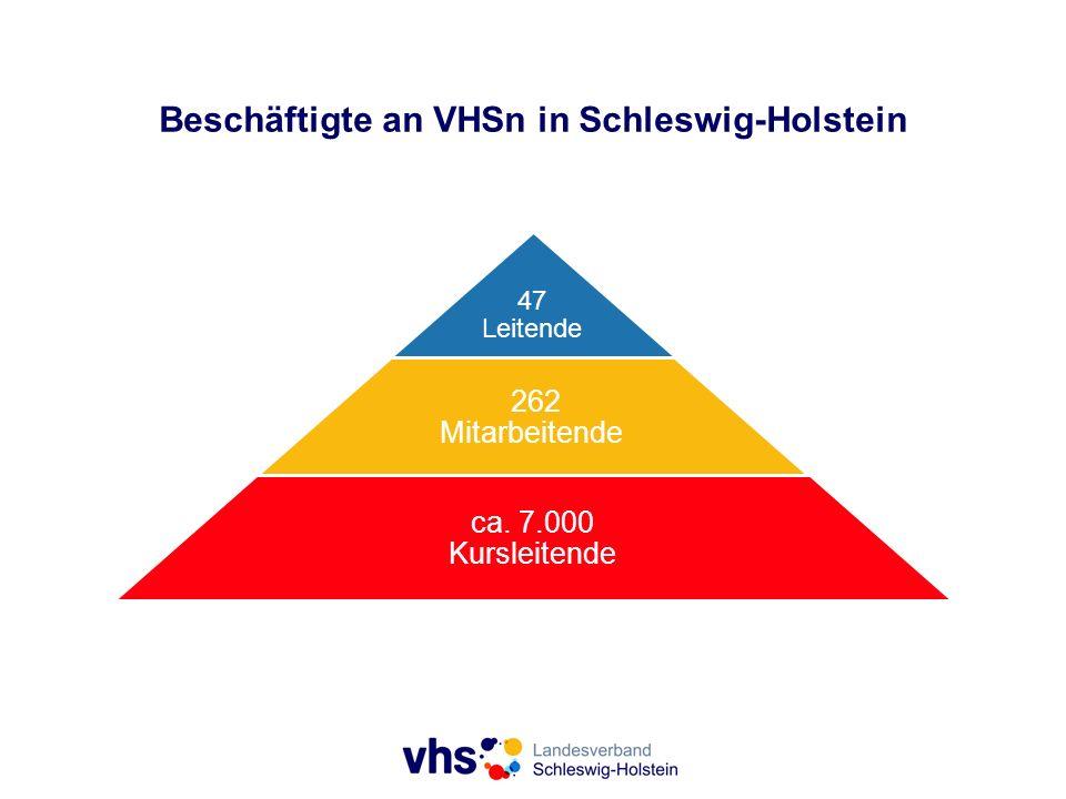 Beschäftigte an VHSn in Schleswig-Holstein