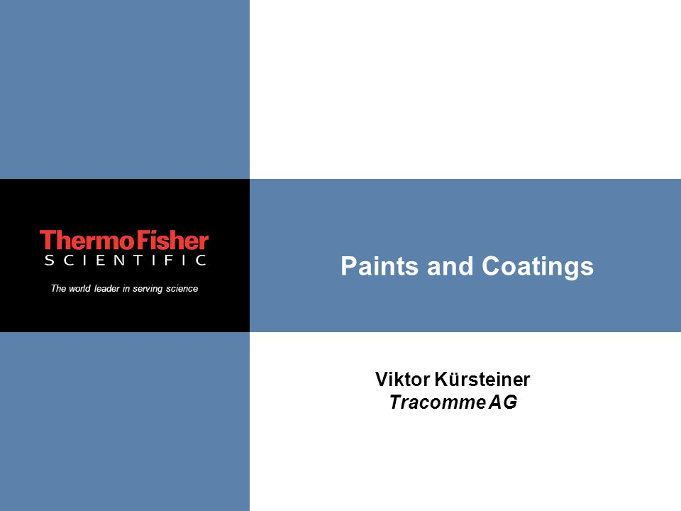 Paints and Coatings Viktor Kürsteiner Tracomme AG
