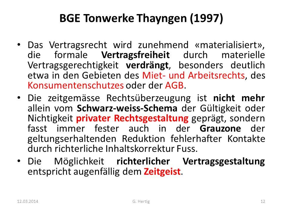 BGE Tonwerke Thayngen (1997)
