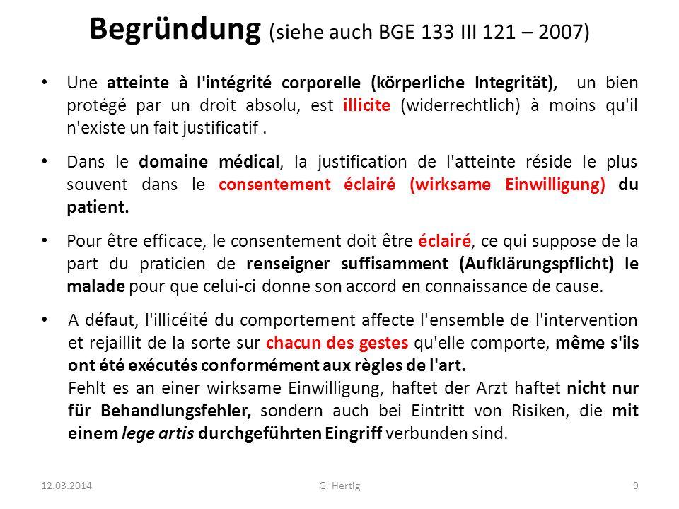 Begründung (siehe auch BGE 133 III 121 – 2007)