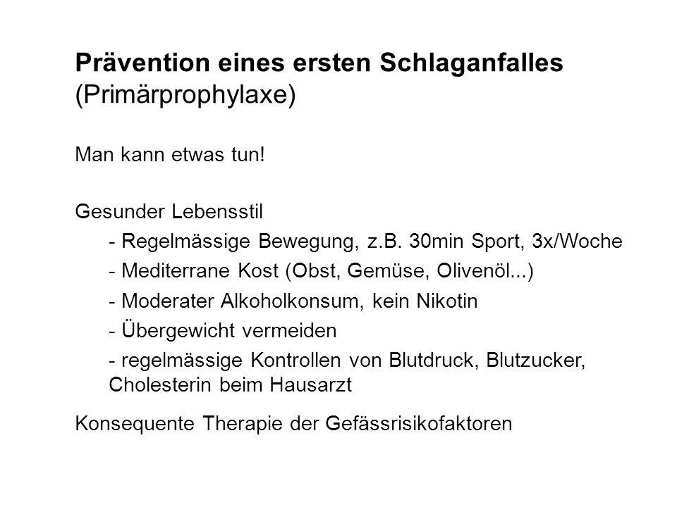 Prävention eines ersten Schlaganfalles (Primärprophylaxe)