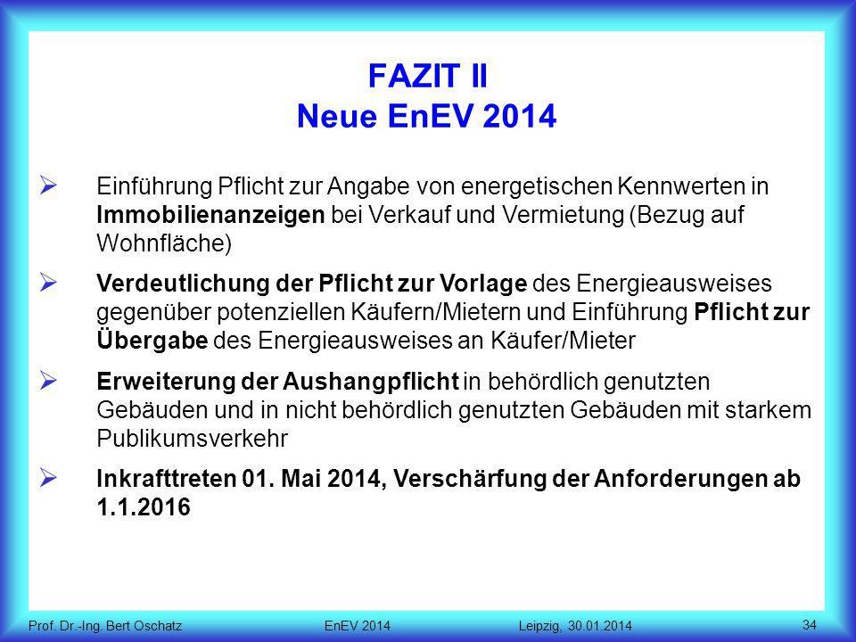 FAZIT II Neue EnEV 2014
