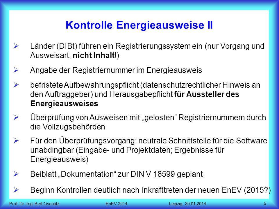Kontrolle Energieausweise II