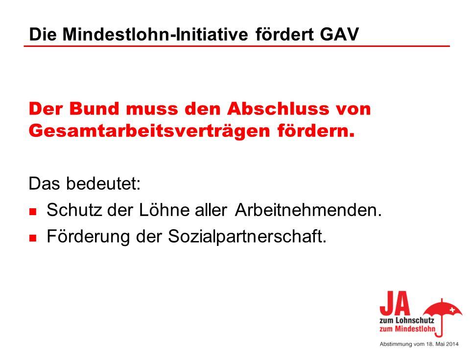 Die Mindestlohn-Initiative fördert GAV