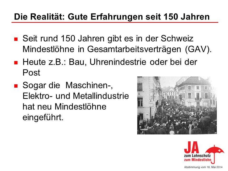 Die Realität: Gute Erfahrungen seit 150 Jahren