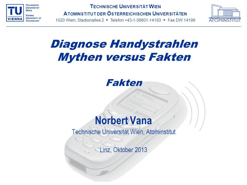 Diagnose Handystrahlen Mythen versus Fakten Fakten