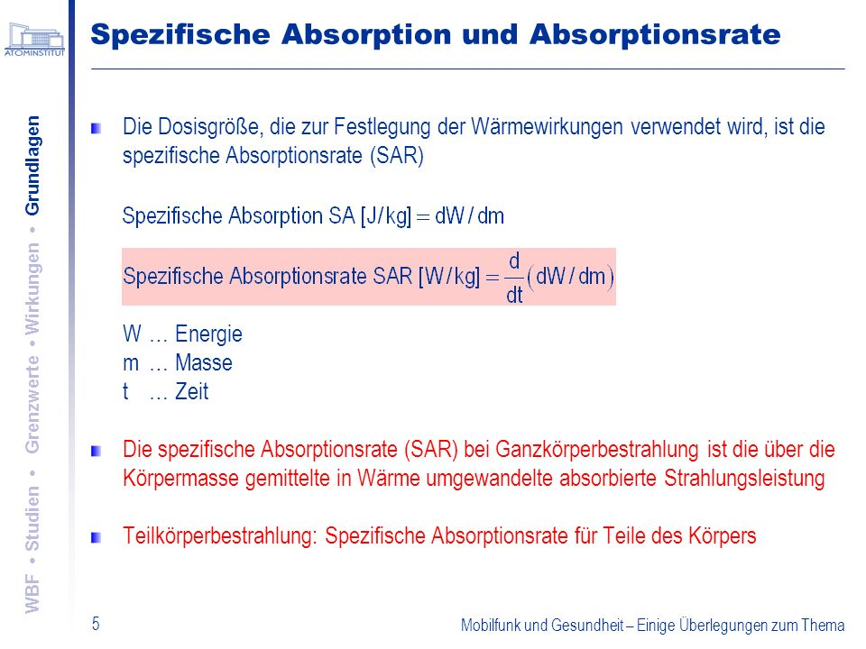 Spezifische Absorption und Absorptionsrate