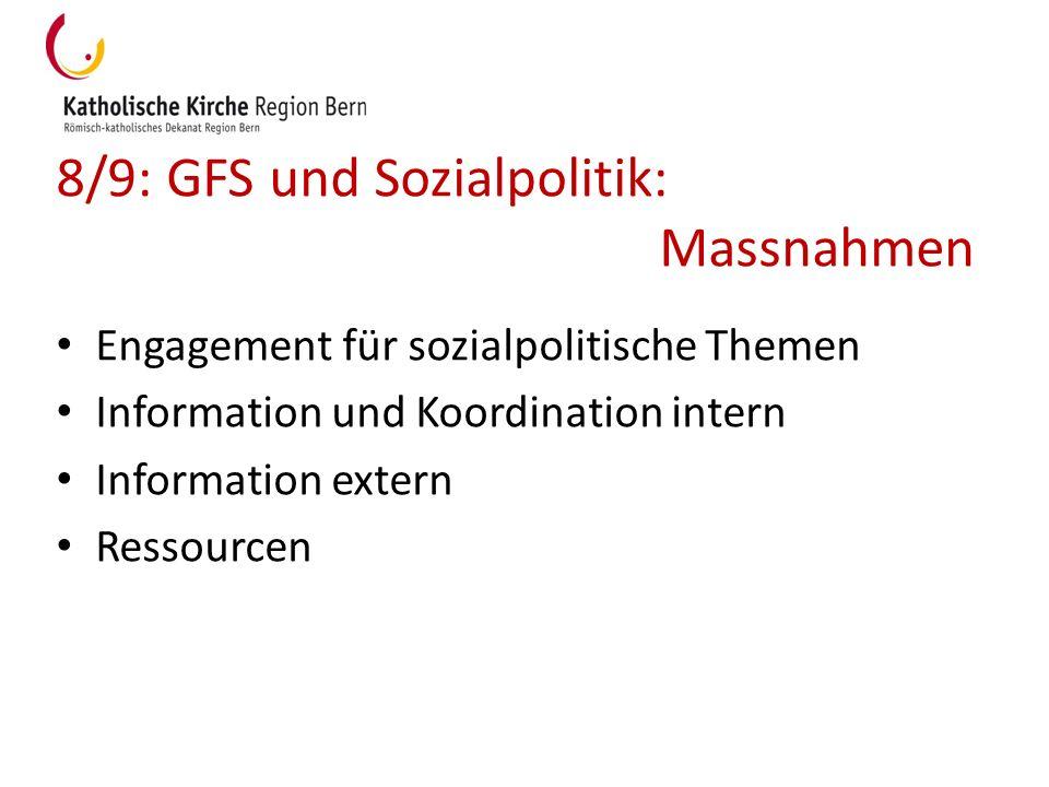 8/9: GFS und Sozialpolitik: Massnahmen