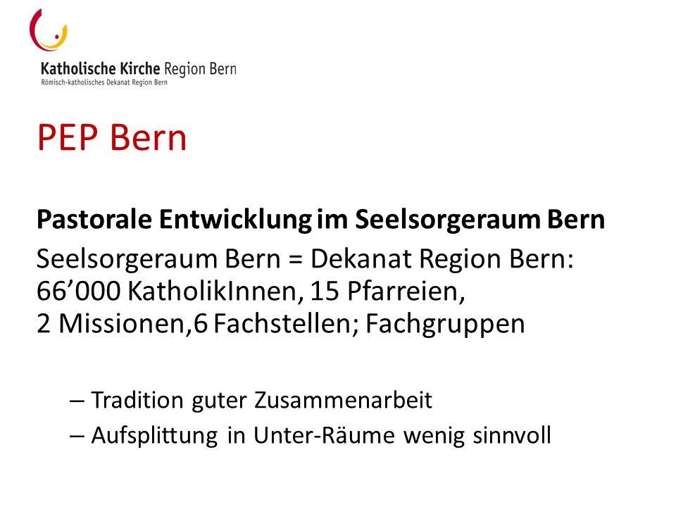 PEP Bern Pastorale Entwicklung im Seelsorgeraum Bern