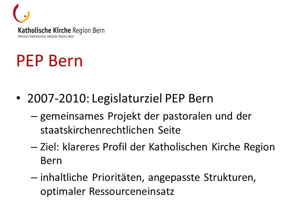 PEP Bern 2007-2010: Legislaturziel PEP Bern
