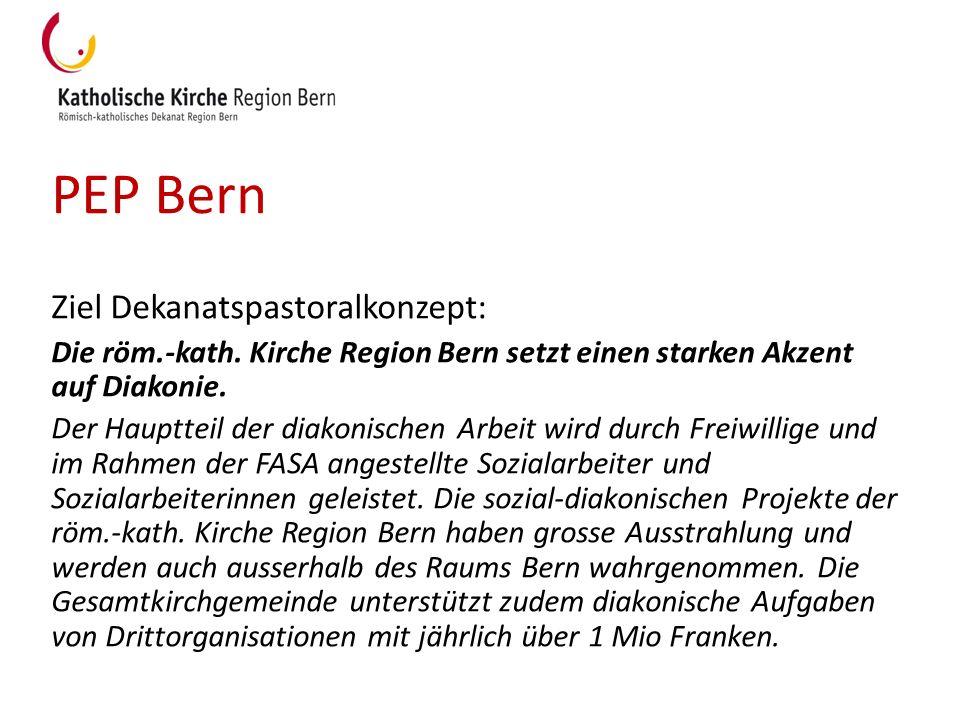 PEP Bern Ziel Dekanatspastoralkonzept: