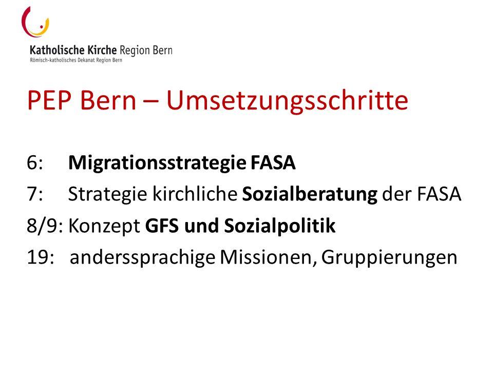 PEP Bern – Umsetzungsschritte