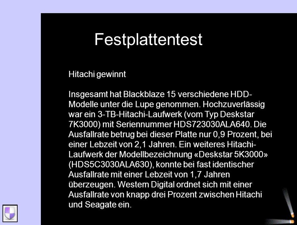 Festplattentest Hitachi gewinnt