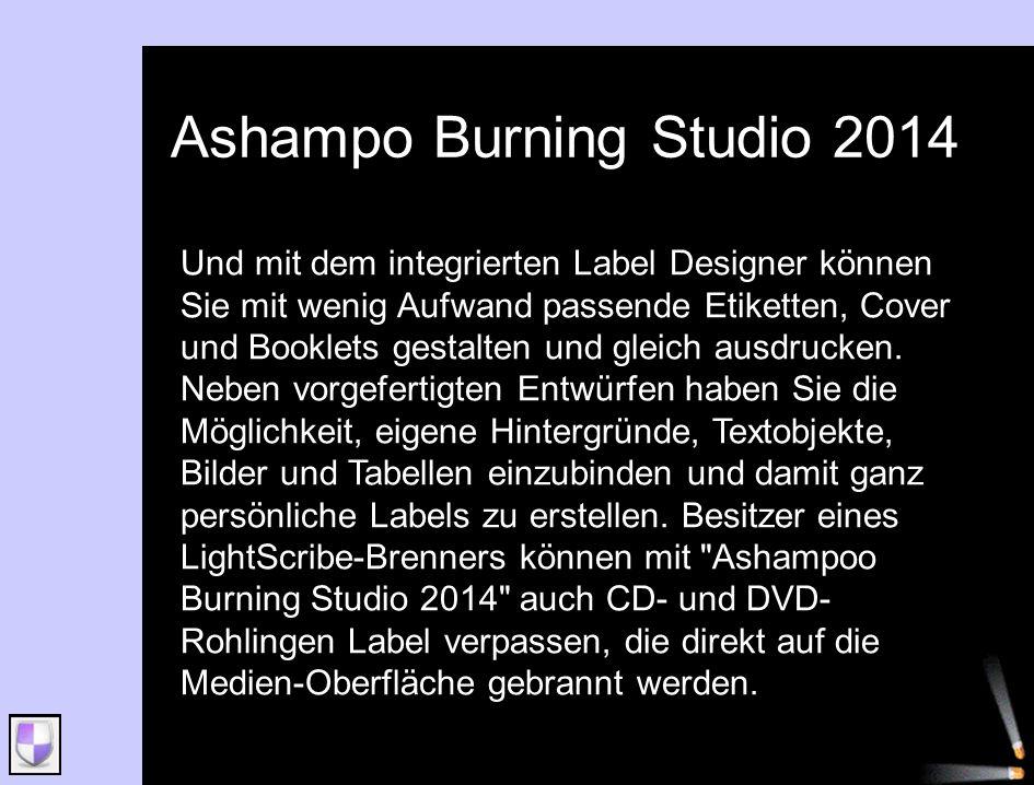 Ashampo Burning Studio 2014