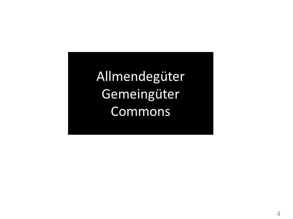 Allmendegüter Gemeingüter Commons