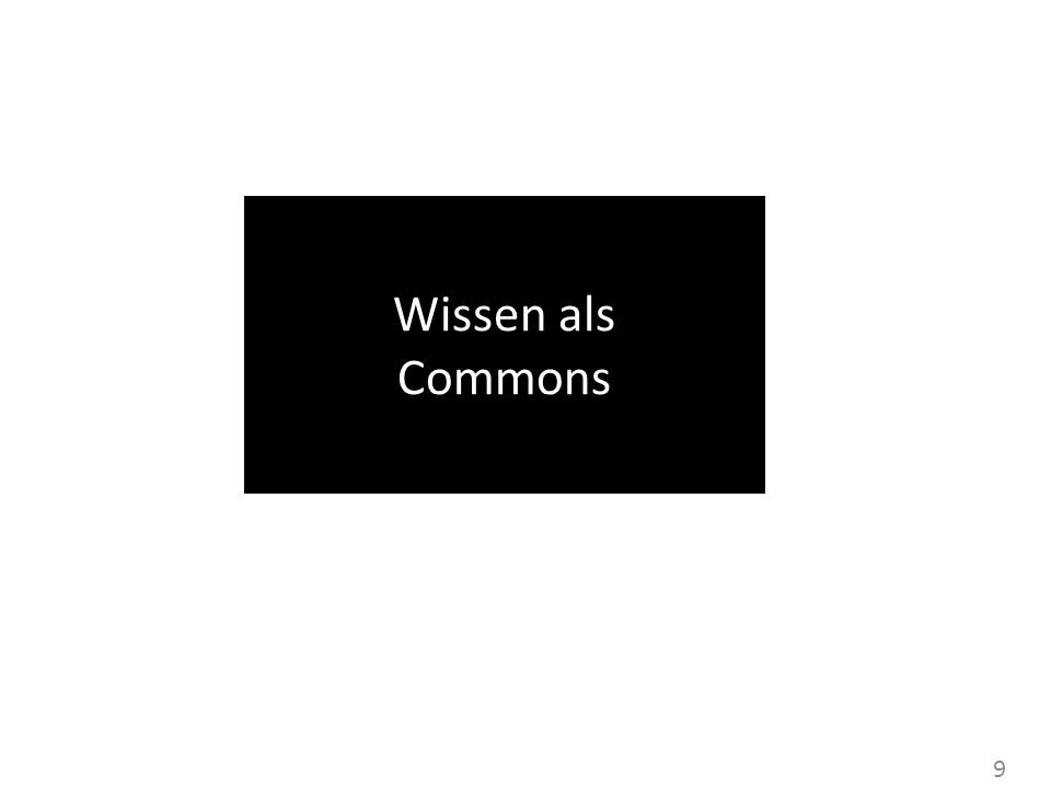 Wissen als Commons