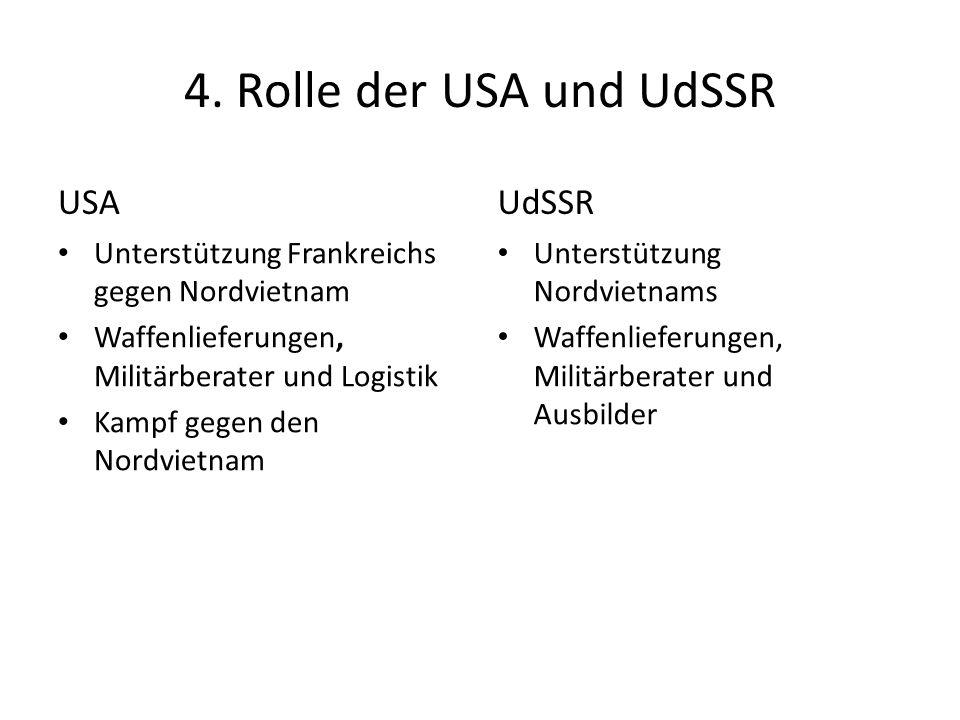 4. Rolle der USA und UdSSR USA UdSSR