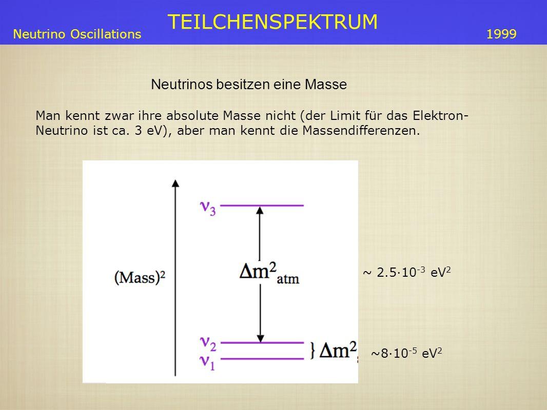 Neutrinos besitzen eine Masse