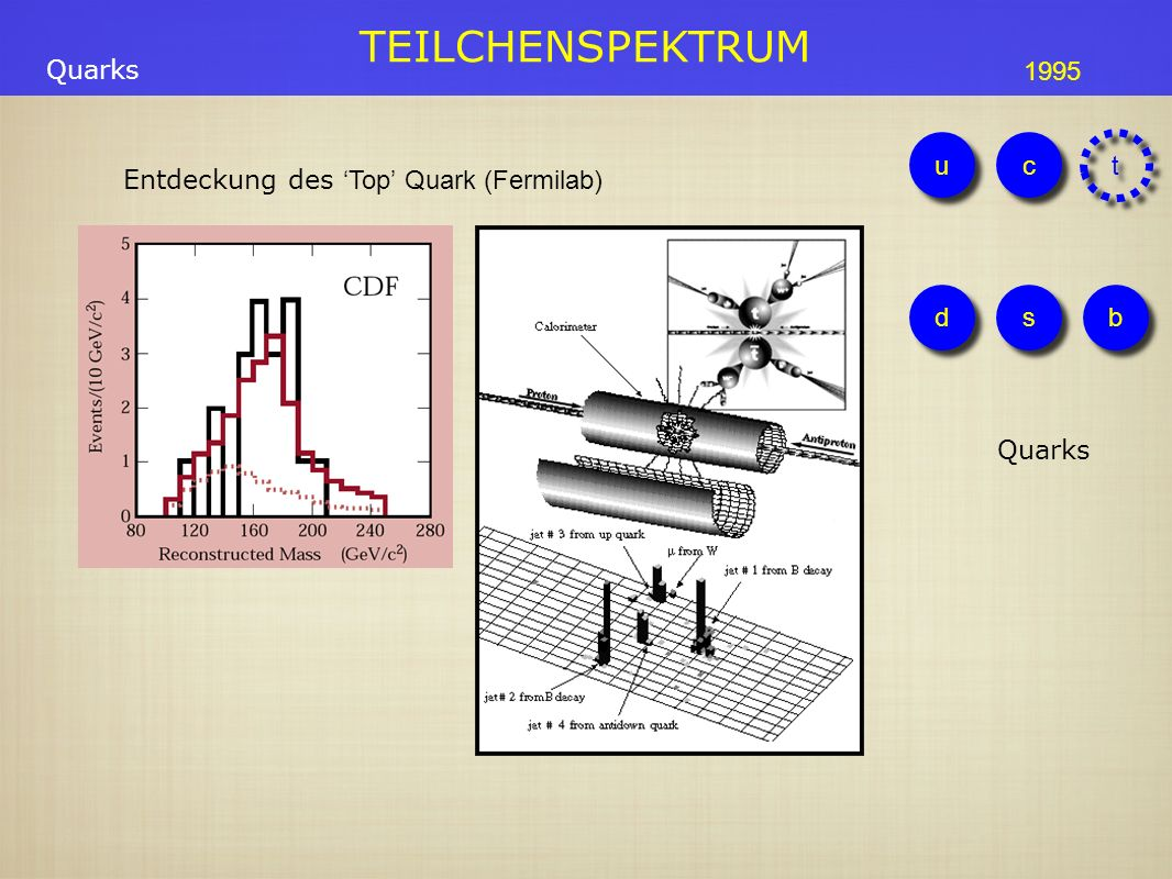 Entdeckung des 'Top' Quark (Fermilab)