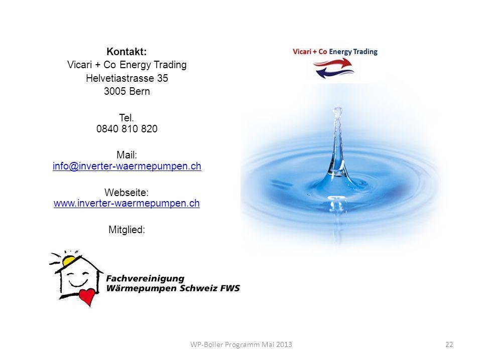 Vicari + Co Energy Trading Helvetiastrasse 35 3005 Bern