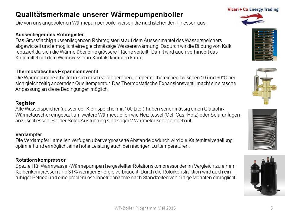 WP-Boiler Programm Mai 2013