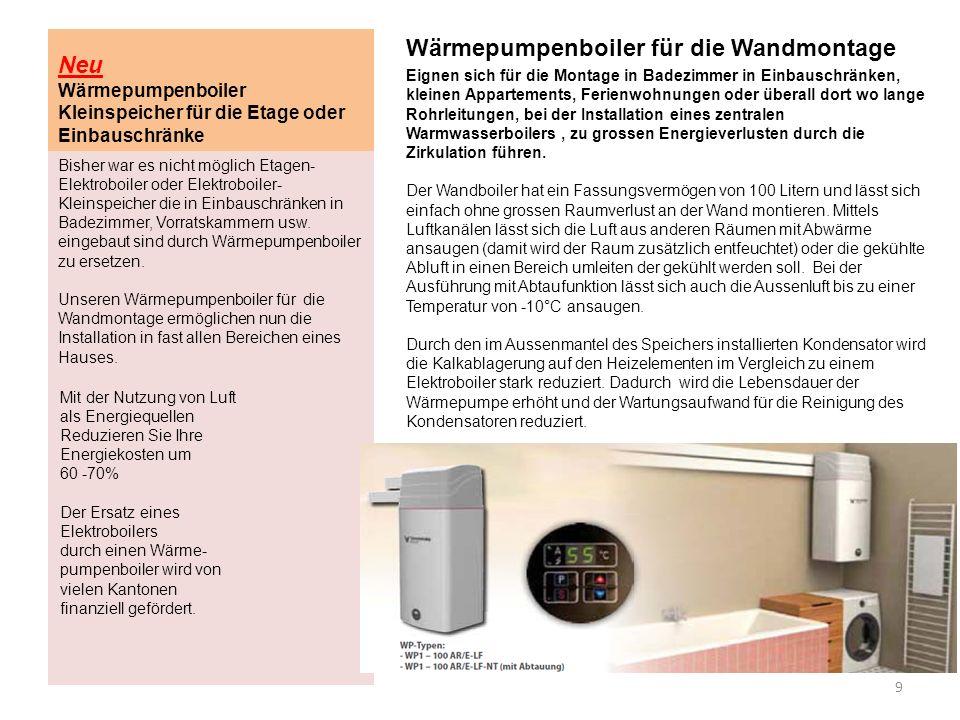 Neu Wärmepumpenboiler Kleinspeicher für die Etage oder Einbauschränke