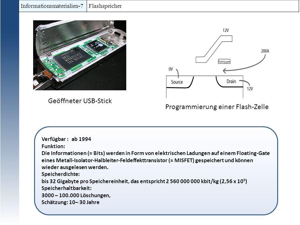 Programmierung einer Flash-Zelle
