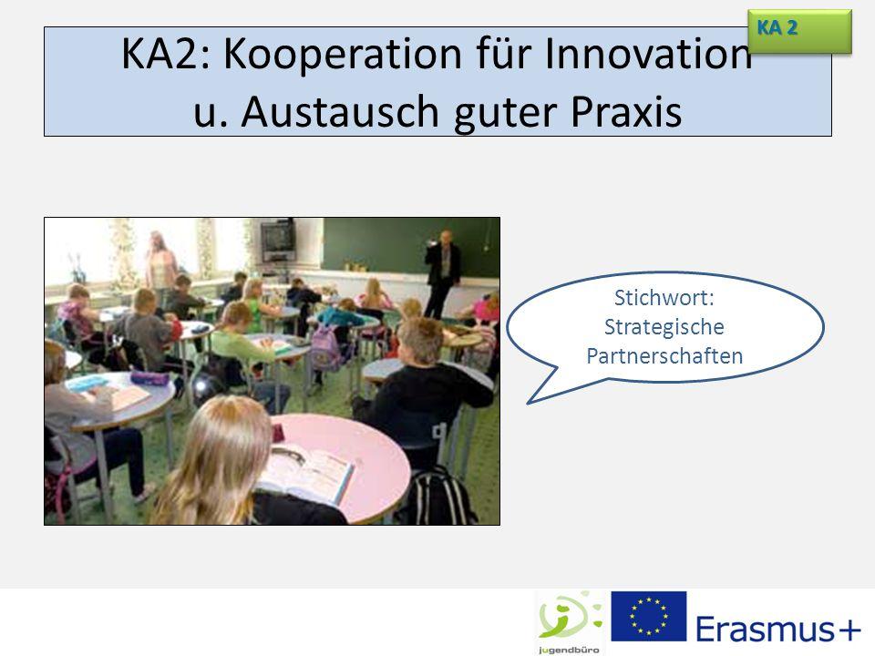 KA2: Kooperation für Innovation u. Austausch guter Praxis