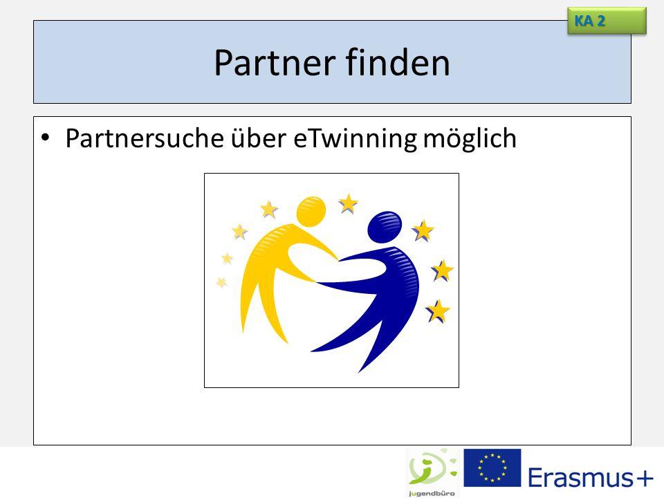 KA 2 Partner finden Partnersuche über eTwinning möglich