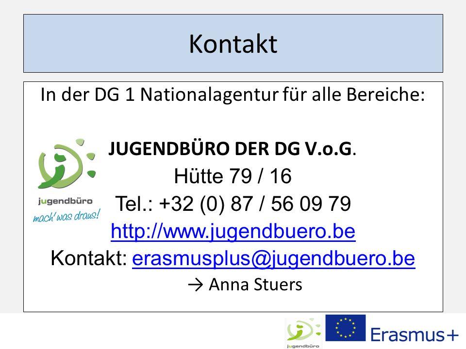 Kontakt In der DG 1 Nationalagentur für alle Bereiche: