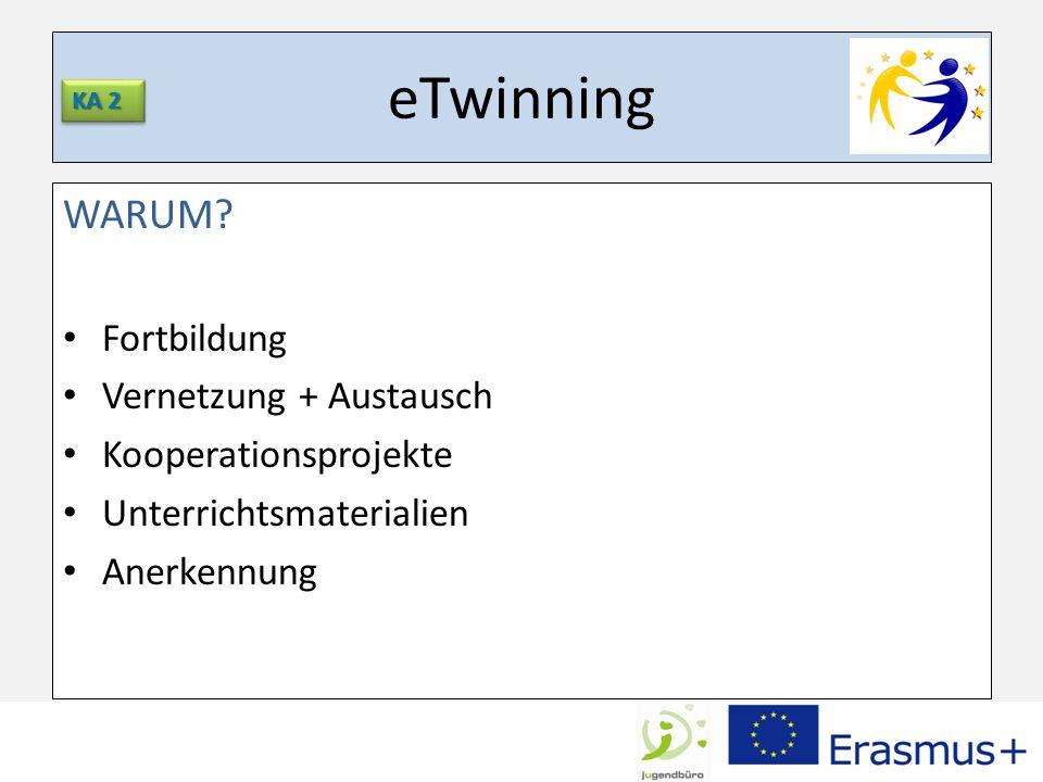 eTwinning WARUM Fortbildung Vernetzung + Austausch
