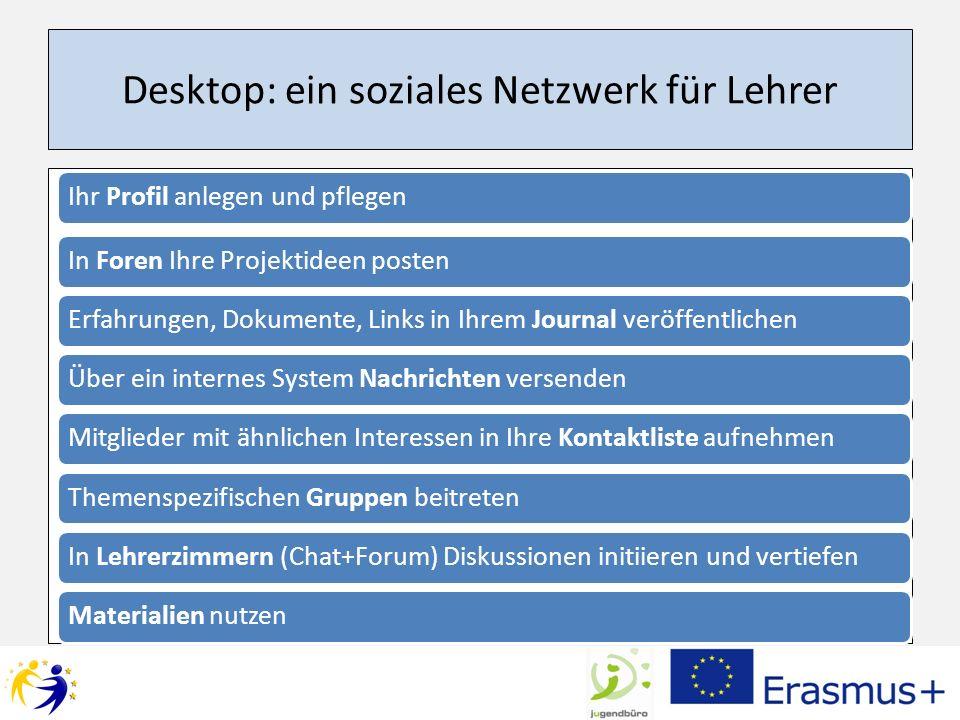 Desktop: ein soziales Netzwerk für Lehrer