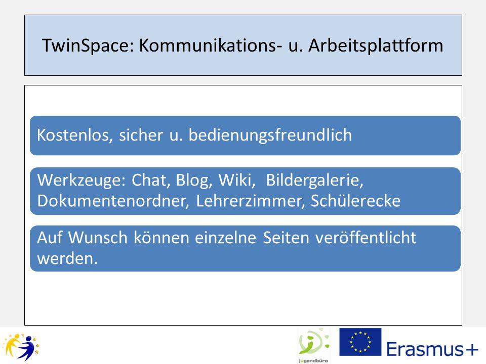 TwinSpace: Kommunikations- u. Arbeitsplattform